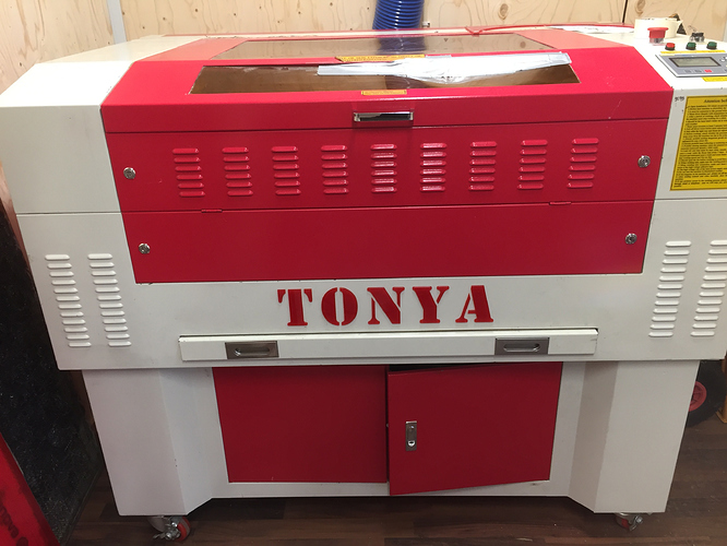 Our laser cutter Tonya
